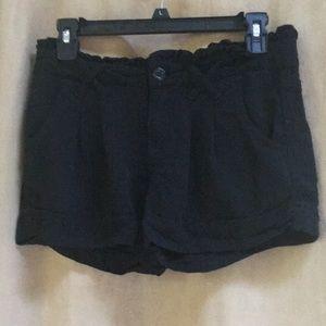 Black Bebop ruffle waist shorts Size 3